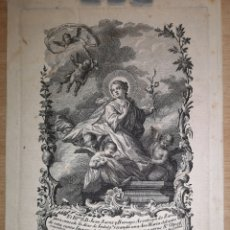 Arte: NUESTRA SEÑORA DE LA ASUMPCION (ASUNCION) GRABADO SIGLO XVIII - 16.50 X 12 CM - IMAGEN - 24 X 10.50. Lote 221771111