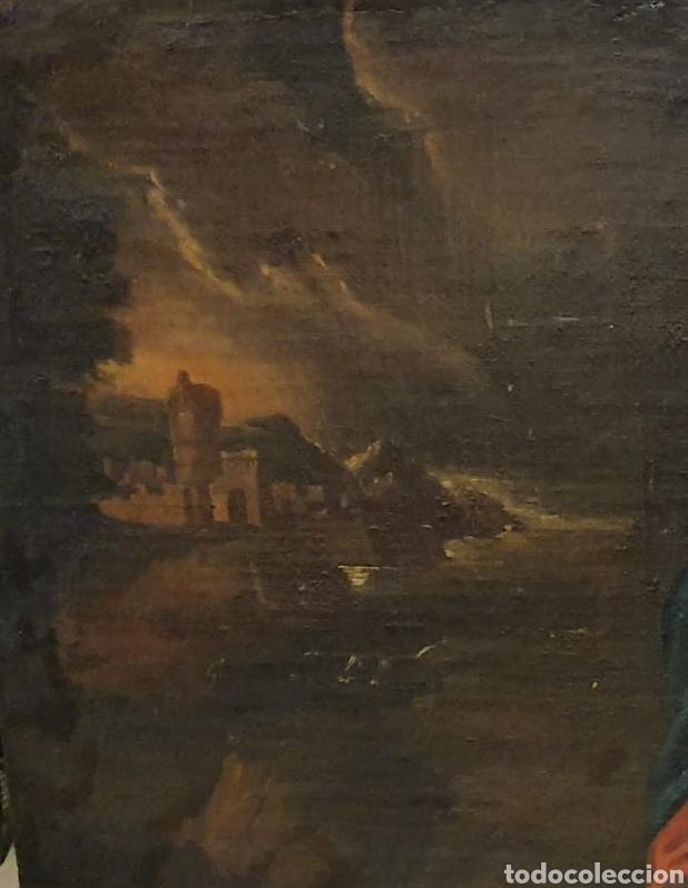 Arte: Oleo Sobre Lienzo del Siglo XVIII Virgen Niño y San Juanito - Marqués de Almunia - Foto 9 - 46527392