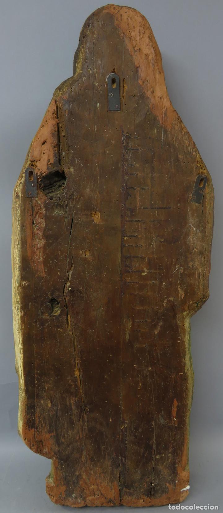 Arte: Talla de medio bulto o chuleta San Juan Evangelista madera tallada dorada y policromada XVI XVII - Foto 24 - 221922775