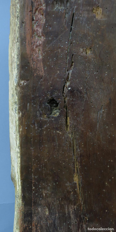 Arte: Talla de medio bulto o chuleta San Juan Evangelista madera tallada dorada y policromada XVI XVII - Foto 27 - 221922775