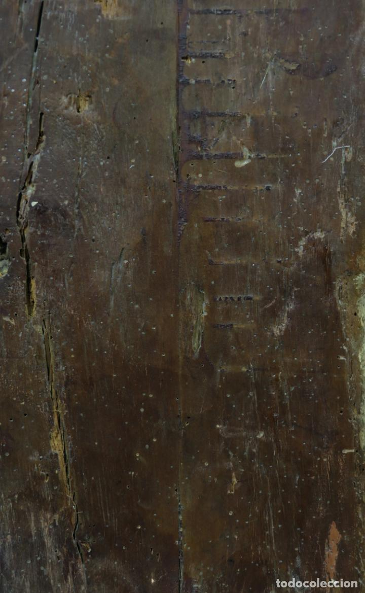 Arte: Talla de medio bulto o chuleta San Juan Evangelista madera tallada dorada y policromada XVI XVII - Foto 28 - 221922775
