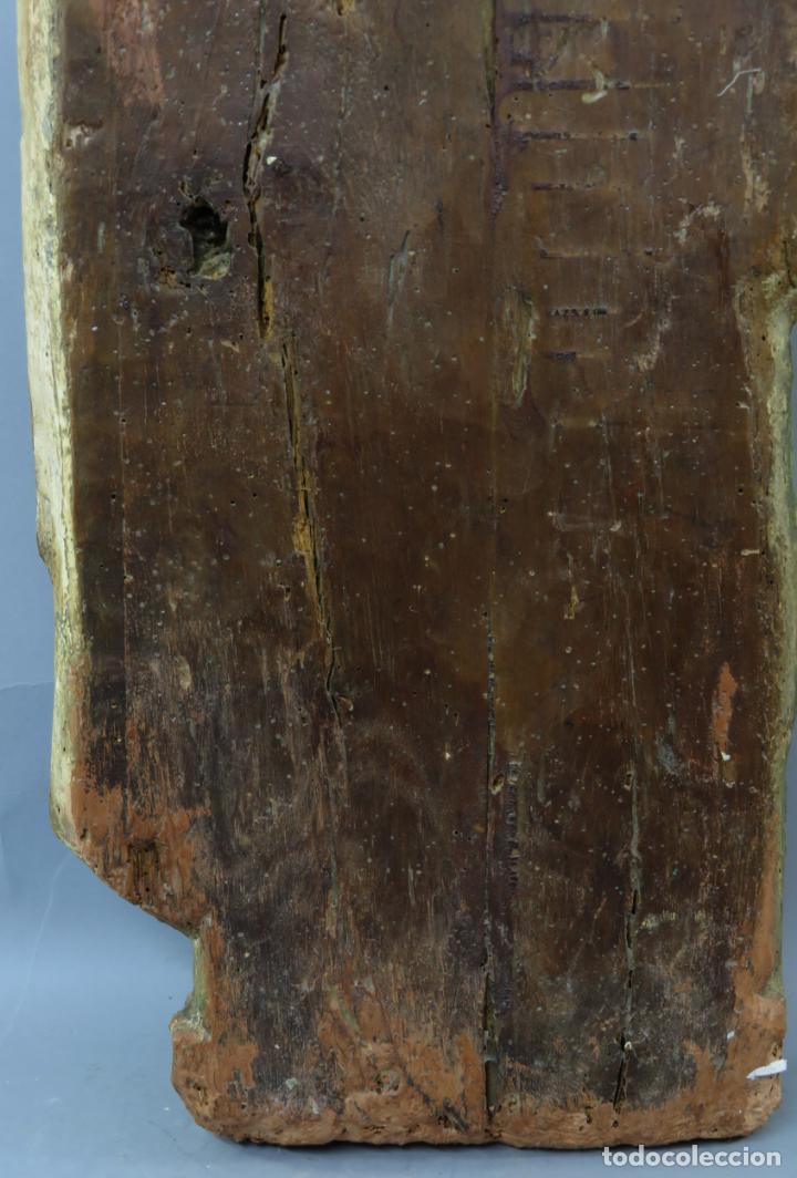 Arte: Talla de medio bulto o chuleta San Juan Evangelista madera tallada dorada y policromada XVI XVII - Foto 29 - 221922775