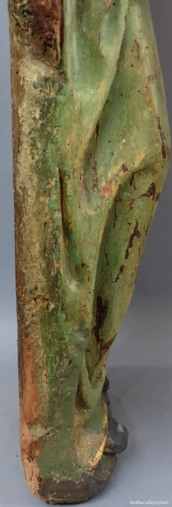 Arte: Talla de medio bulto o chuleta San Juan Evangelista madera tallada dorada y policromada XVI XVII - Foto 34 - 221922775