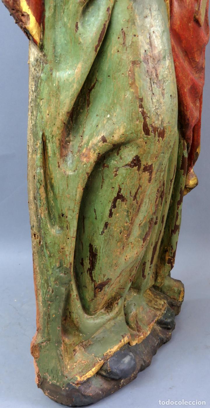 Arte: Talla de medio bulto o chuleta San Juan Evangelista madera tallada dorada y policromada XVI XVII - Foto 39 - 221922775