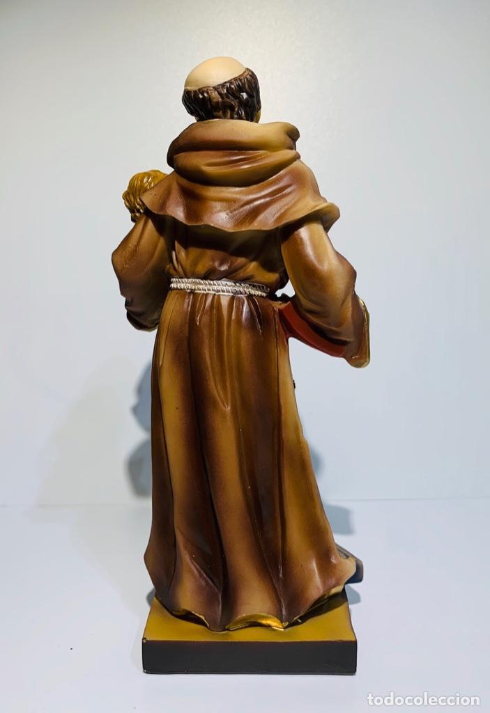Arte: Magnífica escultura San Antonio con Niño. Pasta madera, magnífica policromía. Belloso. Impecable. - Foto 4 - 221974451