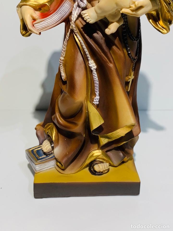 Arte: Magnífica escultura San Antonio con Niño. Pasta madera, magnífica policromía. Belloso. Impecable. - Foto 7 - 221974451