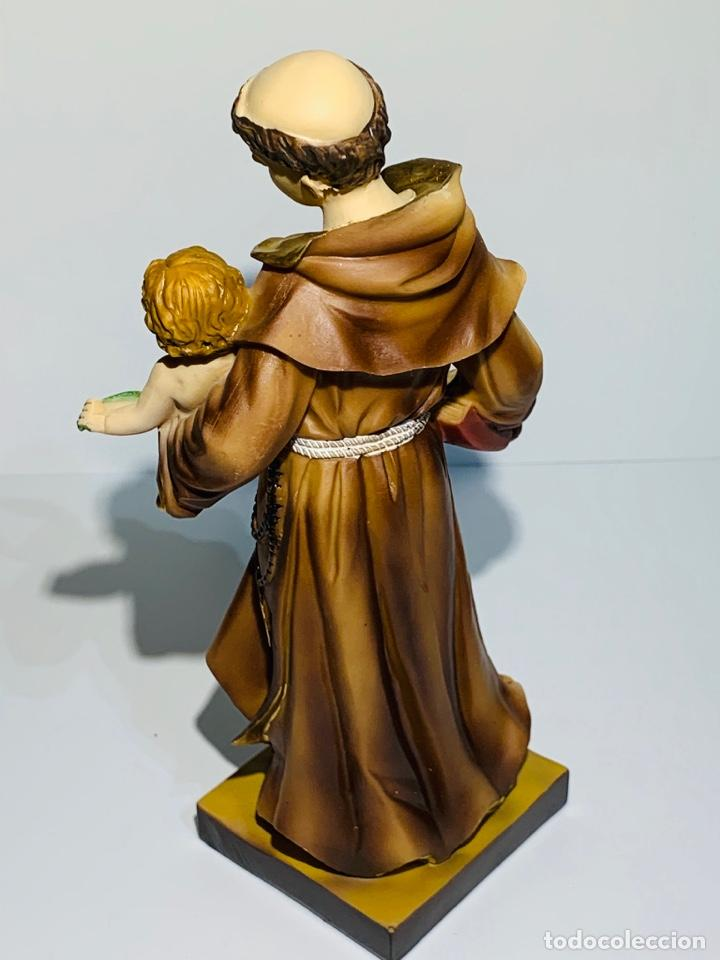 Arte: Magnífica escultura San Antonio con Niño. Pasta madera, magnífica policromía. Belloso. Impecable. - Foto 12 - 221974451