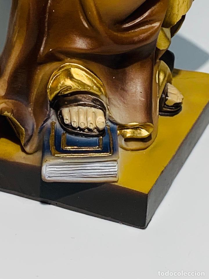 Arte: Magnífica escultura San Antonio con Niño. Pasta madera, magnífica policromía. Belloso. Impecable. - Foto 14 - 221974451