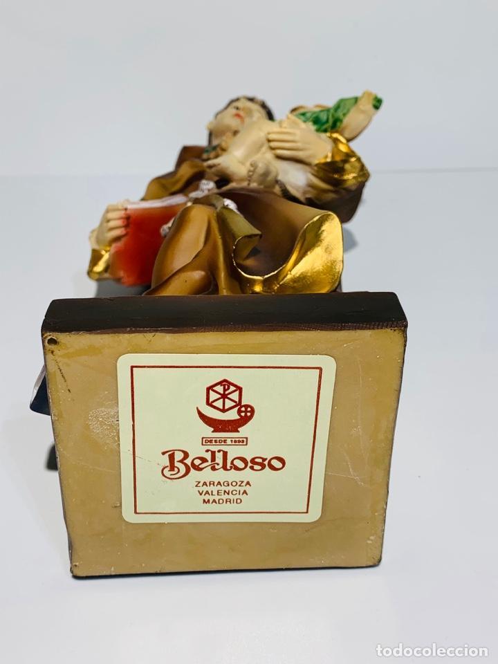 Arte: Magnífica escultura San Antonio con Niño. Pasta madera, magnífica policromía. Belloso. Impecable. - Foto 15 - 221974451