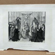 Arte: LA VIRGEN DE HEMLING , EAUFORTE GAZETTE DES BEAUX-ARTS 1867. Lote 221991132