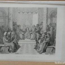 Arte: JESUS EN MEDIO DE LOS DOCTORES, DE INGRES, GRAVURE GAZETTE DES BEAUX-ARTS 1862. Lote 221993758