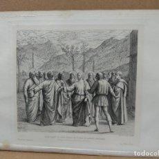Arte: JESUS Y SAN PEDRO, DE MASACCIO, GRAVURE GAZETTE DES BEAUX-ARTS S XIX. Lote 221995337