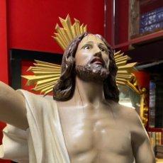Arte: IMPRESIONANTE CRISTO RESUCITADO OLOTINO 9O CM. Lote 222008861