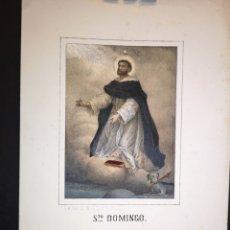Art: STO. DOMINGO - GRABADO LITOGRAFICO - MEDIADOS SIGLO XIX - 16 X 21 CM. Lote 222009292