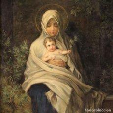 Arte: PINTURA RELIGIOSA ITALIANA VIRGEN CON NIÑO. Lote 222031317