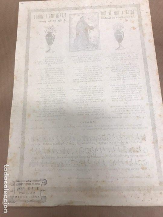 Arte: GOIGS A LLAOR DE SANT ALFRED REI I MONJO IMPRES A SOLSONA LLEIDA - Foto 5 - 222049946