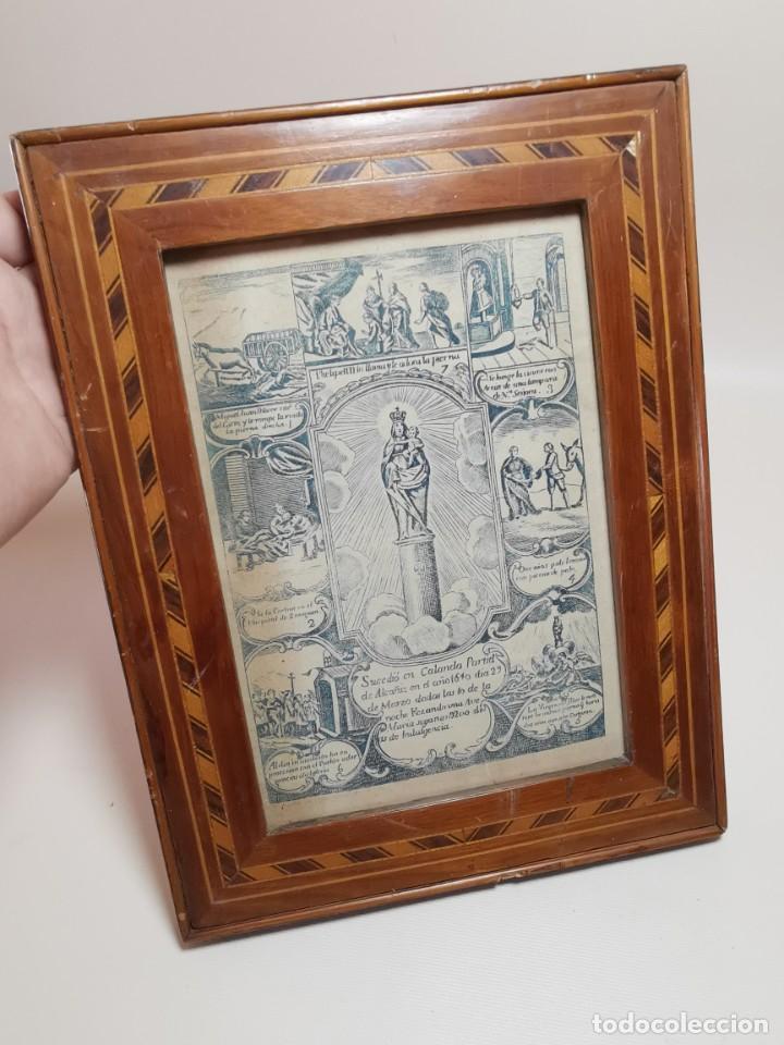 Arte: GRABADO ORIGINAL exvoto curacion virgen del pilar sucedio en calanda año 1640-ALCAÑIZ-SIGLO XIX - Foto 3 - 222052731
