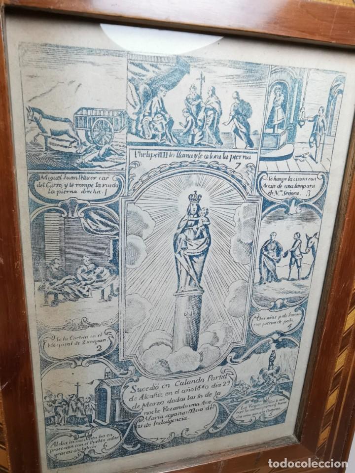 Arte: GRABADO ORIGINAL exvoto curacion virgen del pilar sucedio en calanda año 1640-ALCAÑIZ-SIGLO XIX - Foto 35 - 222052731