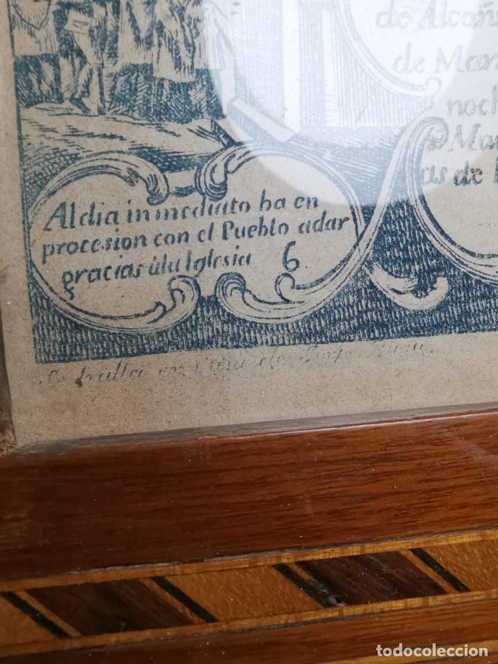 Arte: GRABADO ORIGINAL exvoto curacion virgen del pilar sucedio en calanda año 1640-ALCAÑIZ-SIGLO XIX - Foto 36 - 222052731