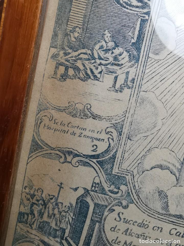 Arte: GRABADO ORIGINAL exvoto curacion virgen del pilar sucedio en calanda año 1640-ALCAÑIZ-SIGLO XIX - Foto 40 - 222052731