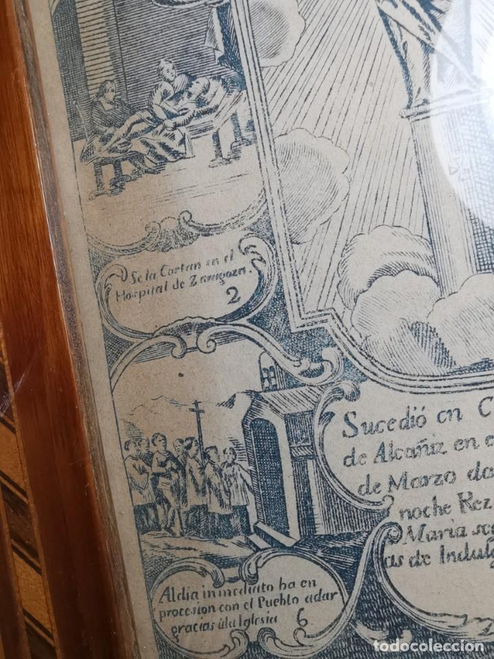 Arte: GRABADO ORIGINAL exvoto curacion virgen del pilar sucedio en calanda año 1640-ALCAÑIZ-SIGLO XIX - Foto 41 - 222052731