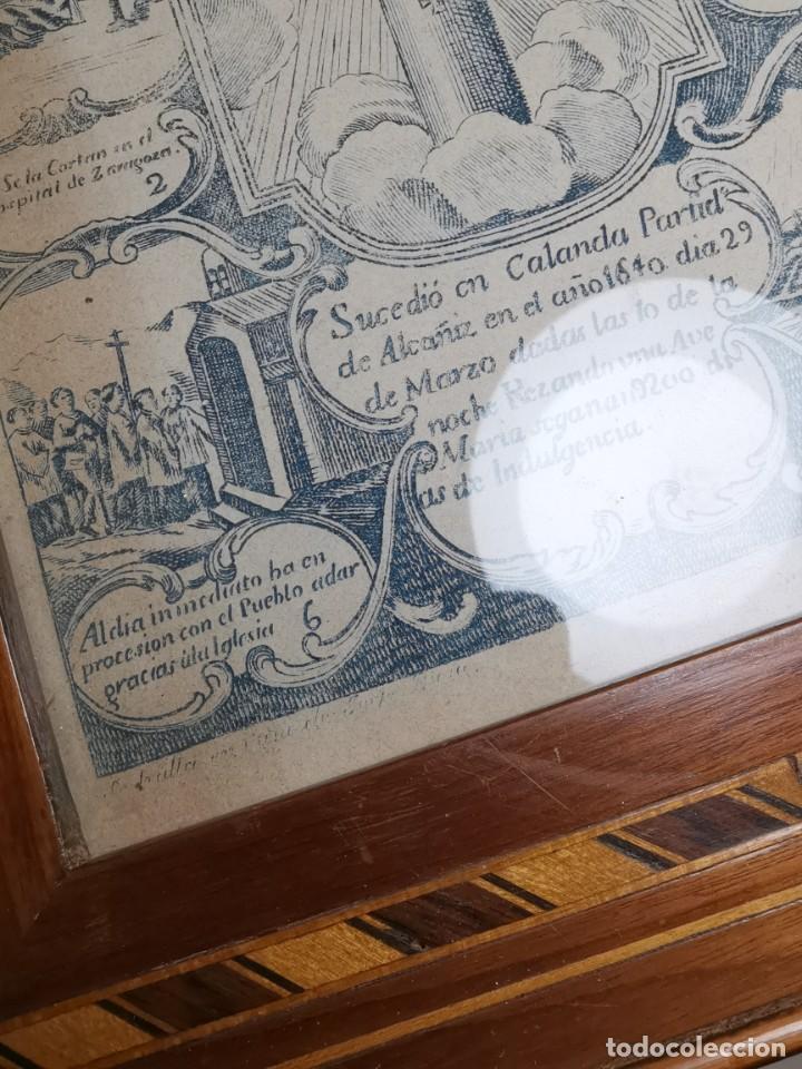 Arte: GRABADO ORIGINAL exvoto curacion virgen del pilar sucedio en calanda año 1640-ALCAÑIZ-SIGLO XIX - Foto 42 - 222052731