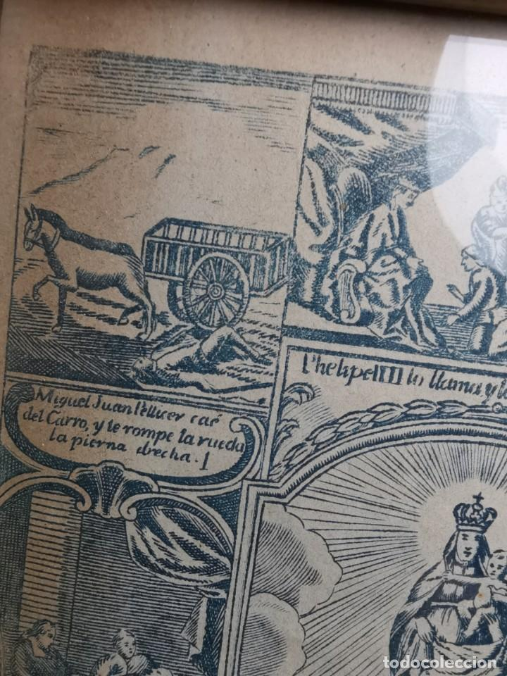 Arte: GRABADO ORIGINAL exvoto curacion virgen del pilar sucedio en calanda año 1640-ALCAÑIZ-SIGLO XIX - Foto 46 - 222052731