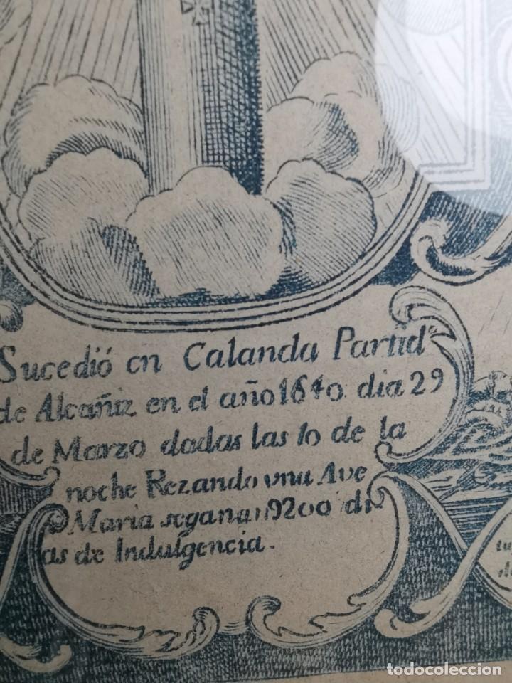 Arte: GRABADO ORIGINAL exvoto curacion virgen del pilar sucedio en calanda año 1640-ALCAÑIZ-SIGLO XIX - Foto 49 - 222052731