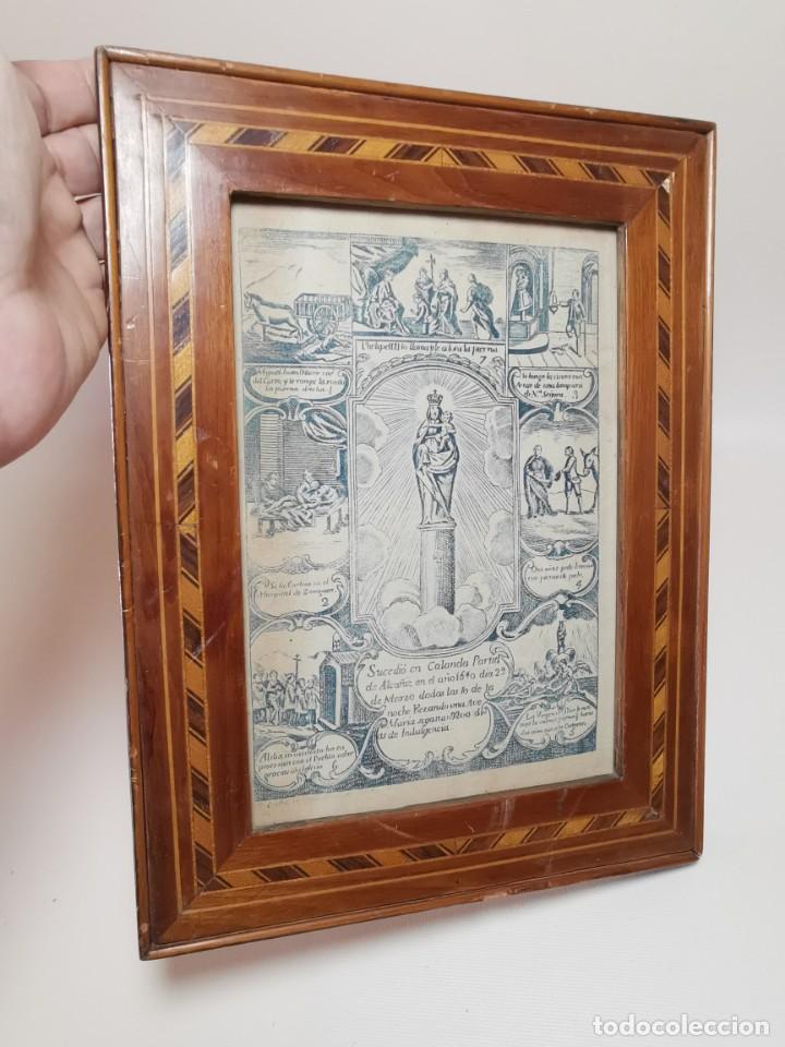 Arte: GRABADO ORIGINAL exvoto curacion virgen del pilar sucedio en calanda año 1640-ALCAÑIZ-SIGLO XIX - Foto 51 - 222052731