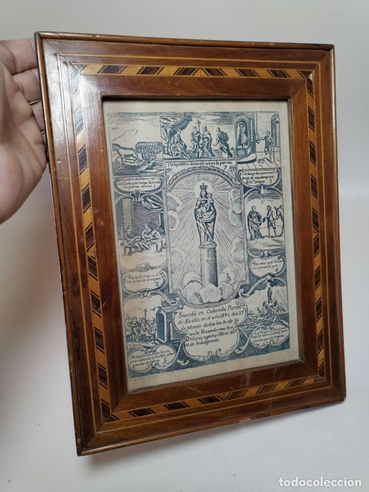 Arte: GRABADO ORIGINAL exvoto curacion virgen del pilar sucedio en calanda año 1640-ALCAÑIZ-SIGLO XIX - Foto 52 - 222052731