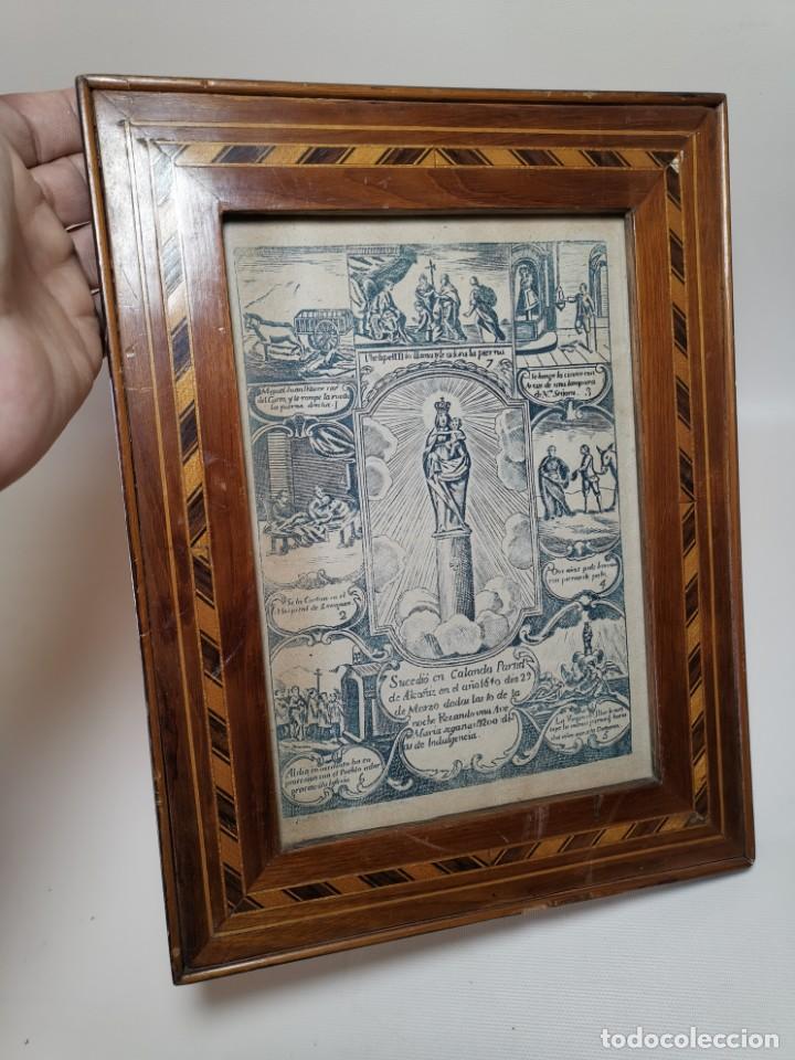 Arte: GRABADO ORIGINAL exvoto curacion virgen del pilar sucedio en calanda año 1640-ALCAÑIZ-SIGLO XIX - Foto 53 - 222052731
