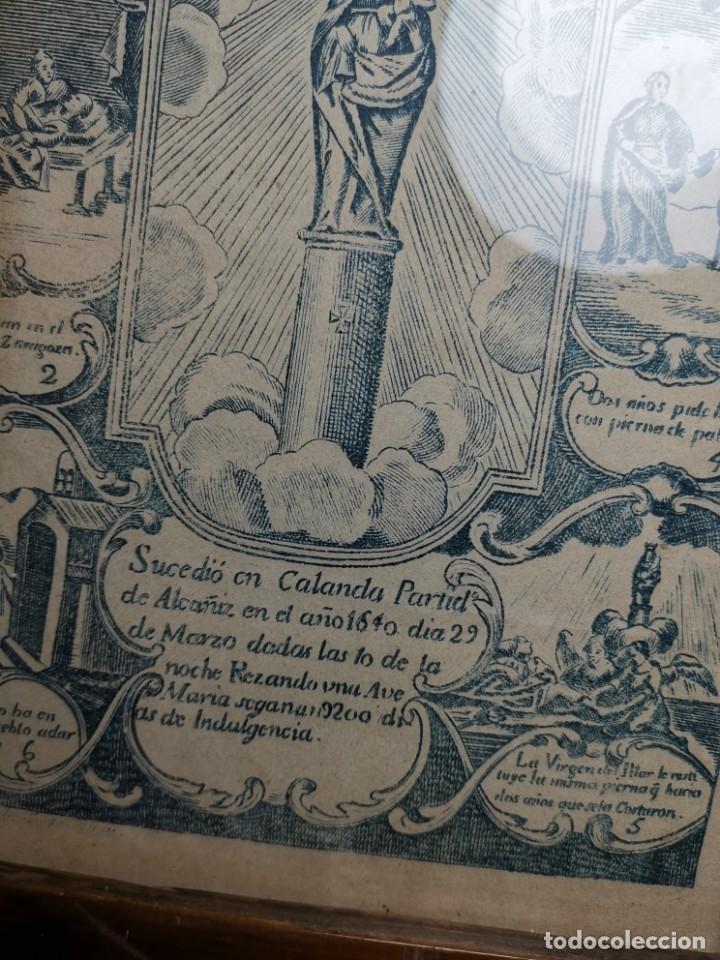 Arte: GRABADO ORIGINAL exvoto curacion virgen del pilar sucedio en calanda año 1640-ALCAÑIZ-SIGLO XIX - Foto 61 - 222052731
