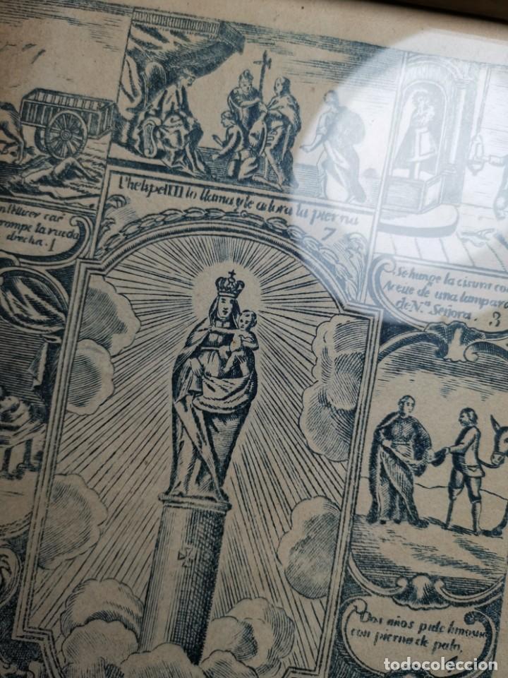 Arte: GRABADO ORIGINAL exvoto curacion virgen del pilar sucedio en calanda año 1640-ALCAÑIZ-SIGLO XIX - Foto 62 - 222052731