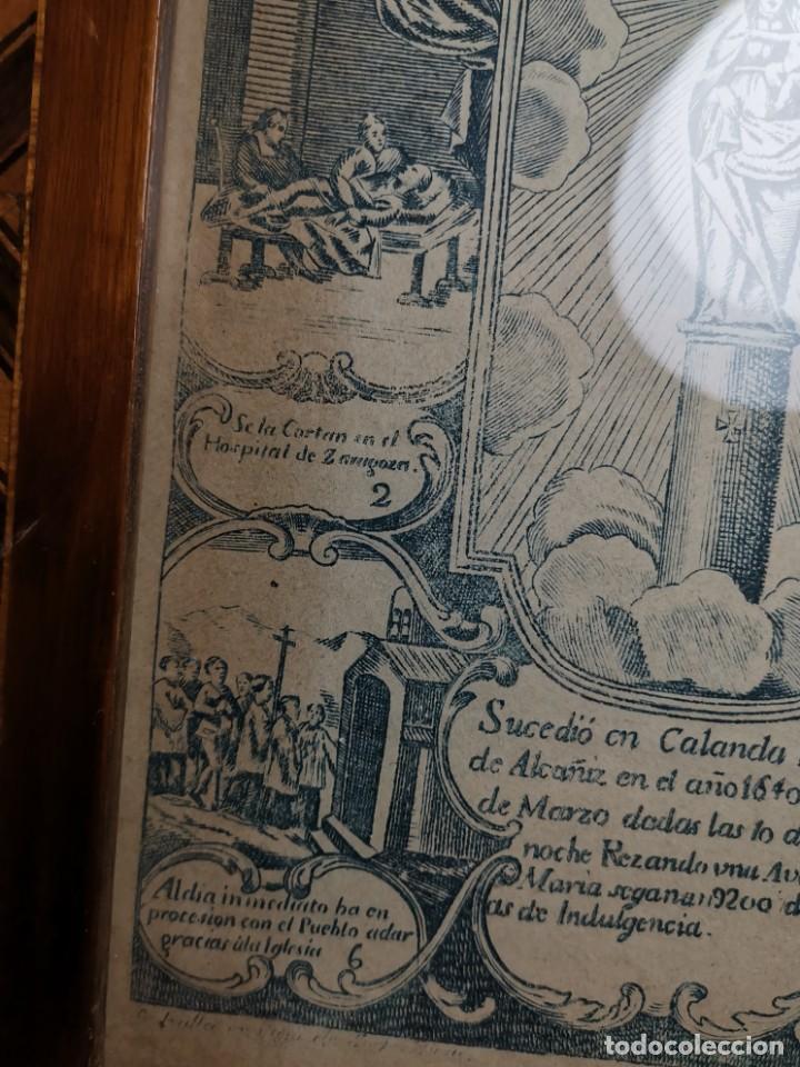Arte: GRABADO ORIGINAL exvoto curacion virgen del pilar sucedio en calanda año 1640-ALCAÑIZ-SIGLO XIX - Foto 64 - 222052731