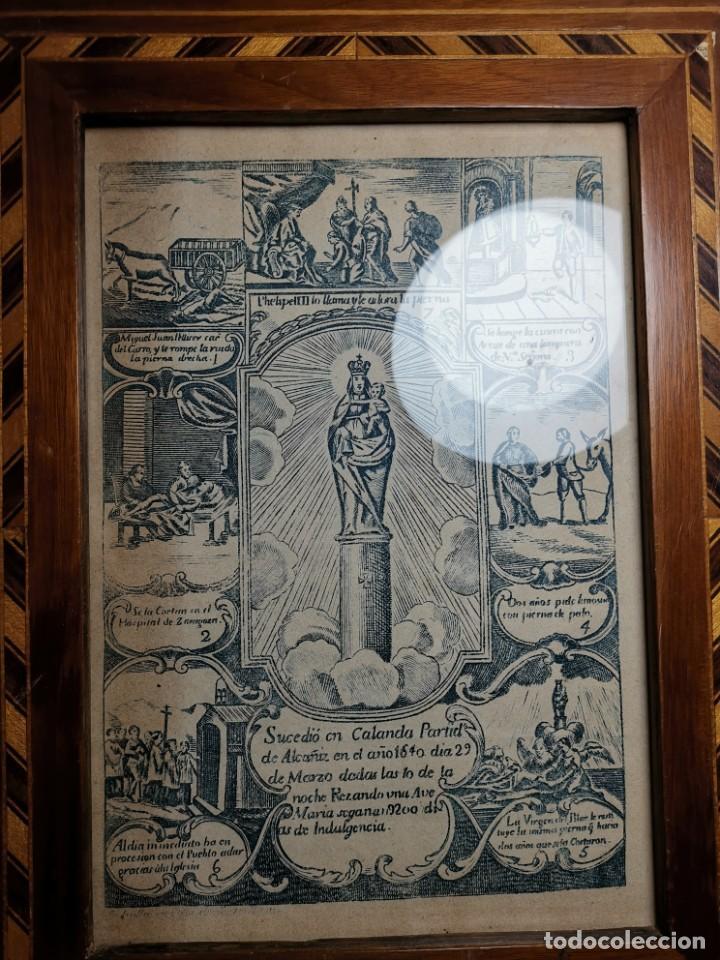 Arte: GRABADO ORIGINAL exvoto curacion virgen del pilar sucedio en calanda año 1640-ALCAÑIZ-SIGLO XIX - Foto 66 - 222052731