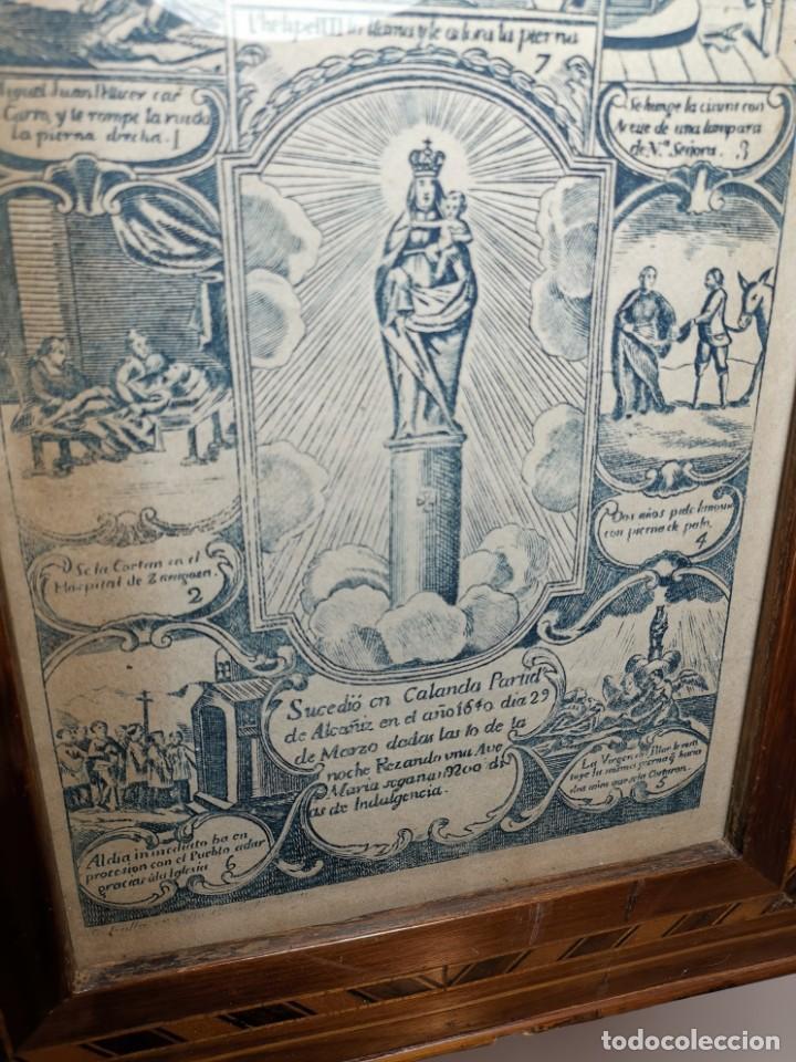 Arte: GRABADO ORIGINAL exvoto curacion virgen del pilar sucedio en calanda año 1640-ALCAÑIZ-SIGLO XIX - Foto 68 - 222052731