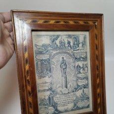 Arte: GRABADO ORIGINAL EXVOTO CURACION VIRGEN DEL PILAR SUCEDIO EN CALANDA AÑO 1640-ALCAÑIZ-SIGLO XIX. Lote 222052731
