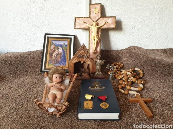 ANTIGUAS FIGURAS RELIGIOSAS Y MEDALIAS (Arte - Arte Religioso - Iconos)