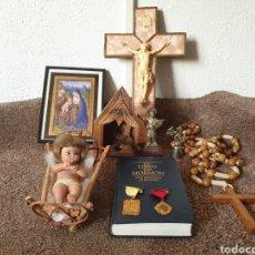 Arte: ANTIGUAS FIGURAS RELIGIOSAS Y MEDALIAS. Lote 222108452