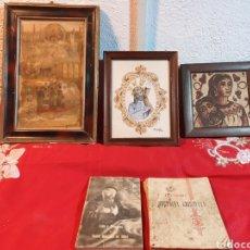 Arte: ANTIGUOS CUADROS RELIGIOSOS LIBROS. Lote 222172382