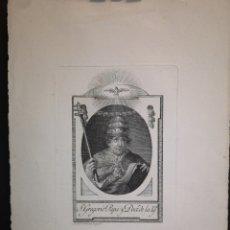 Arte: S. GREGORIO PAPA Y DOCTOR DE LA IGLESIA - GRABADO DE CARMONA - 18 X 26 CM - IMAGEN - 14 X 10 CM. Lote 222325163