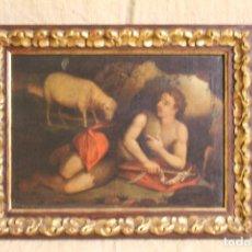 Arte: OLEO SOBRE LIENZO OL.SAN JUAN RECOSTADO.S XVIII.. Lote 222368346