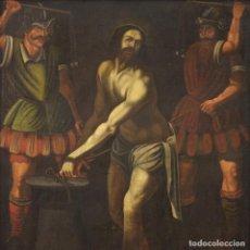 Arte: ANTIGUA PINTURA ITALIANA FLAGELACIÓN DE JESÚS DEL SIGLO XVII. Lote 222456760