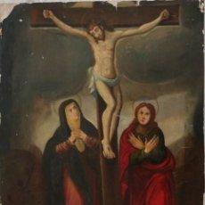 Arte: TABLA DE LA CRUCIFIXIÓN. ESCUELA ESPAÑOLA DEL SIGLO XVII. MEDIDAS DE 73 X 54 CM.. Lote 222506426