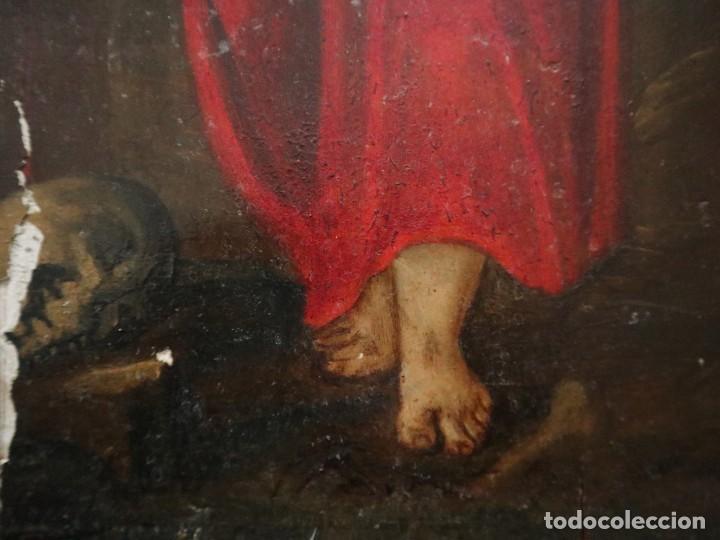 Arte: Tabla de la Crucifixión. Escuela Española del siglo XVII. Medidas de 73 x 54 cm. - Foto 19 - 222506426
