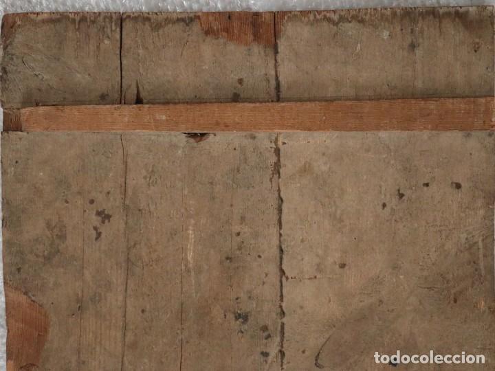 Arte: Tabla de la Crucifixión. Escuela Española del siglo XVII. Medidas de 73 x 54 cm. - Foto 22 - 222506426