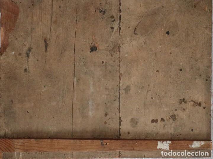 Arte: Tabla de la Crucifixión. Escuela Española del siglo XVII. Medidas de 73 x 54 cm. - Foto 25 - 222506426