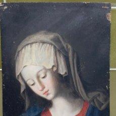 Arte: ESPECTACULAR ÓLEO SOBRE TABLA S.XVII-XVIII REPRESENTACIÓN DE LA VIRGEN EN MEDITACIÓN DE SASSOFERRATO. Lote 222704608