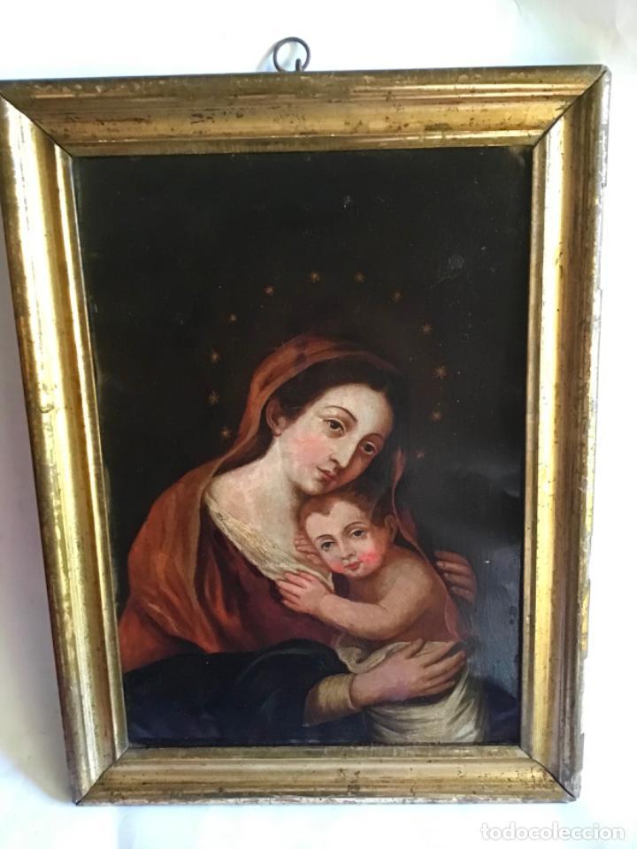 Arte: ANTIGUA PINTURA SIGLO XVIII , OLEO SOBRE METAL - COBRE , - Foto 3 - 222705260