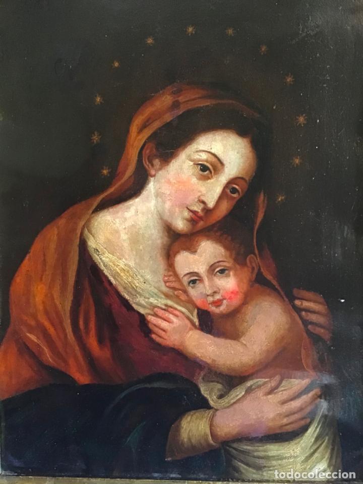 Arte: ANTIGUA PINTURA SIGLO XVIII , OLEO SOBRE METAL - COBRE , - Foto 7 - 222705260